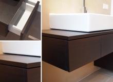Badezimmermöbel aus Räuchereiche