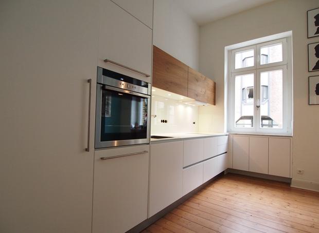 Weisse Küche Mit Altholz Domius Möbelkonzepte