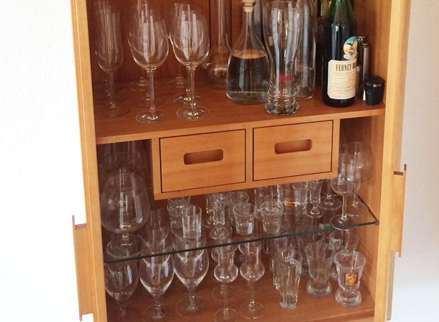 Gläserschrank gläserschrank domius möbelkonzepte
