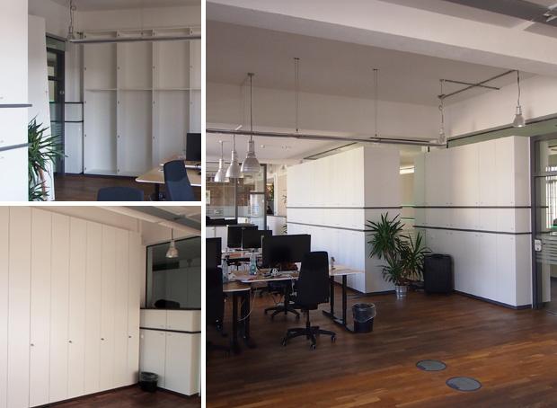 Büromöbel Design Weiß Raumteiler