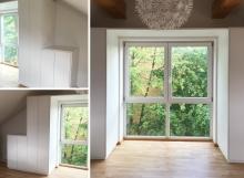 Schrankanlage mit Fensterumrandung