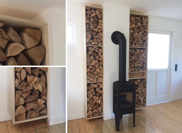 Holzkamin Ofen Holzstapel Regal