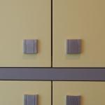 Praxismöbel Sonderanfertigung Flurschrank Linoleum/Lack