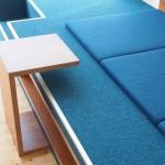 Podest Launch Luxusmöbel Teppich Kirschbaum Petrol Polster