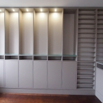 Maßgefertigt Regal Furniert LED Licht