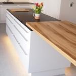 Luxusküche Hochglanz Weiß Design Holz Maßanfertigung